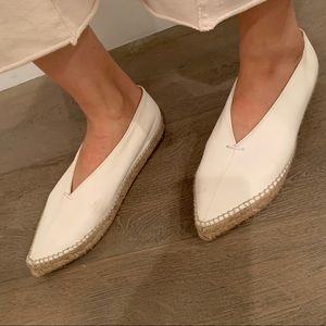 Celine White flat shoes